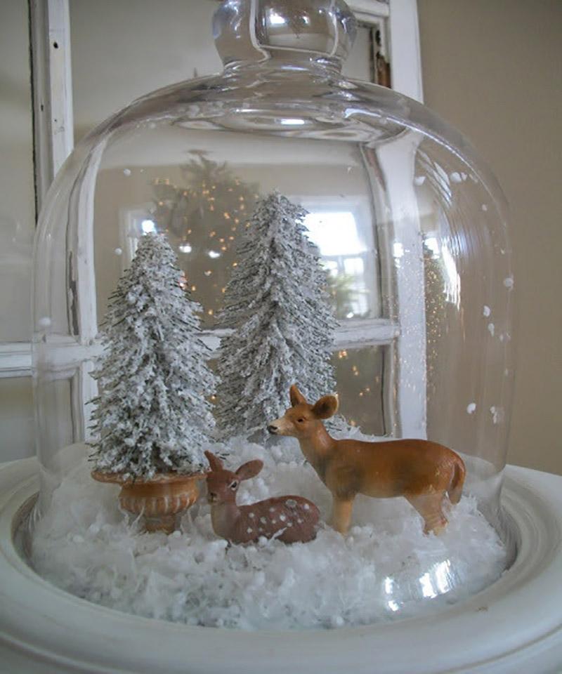 Diy kerstdecoraties onder een stolp - Decoratie van de villas ...