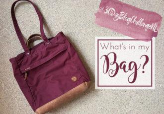 De inhoud van mijn tas - #30DayBlogChallengeNL - ©debbieschrijf