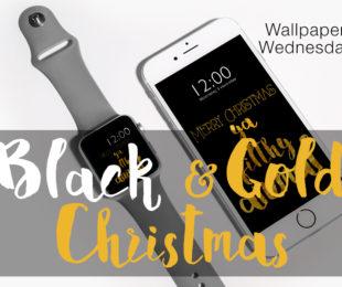 Wallpaper Wednesday - Black&Gold Christmas - ©debbieschrijft.nl
