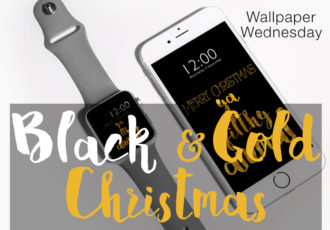 Wallpaper Wednesday - Black&Gold Christmas - ©debbieschrijft.nl