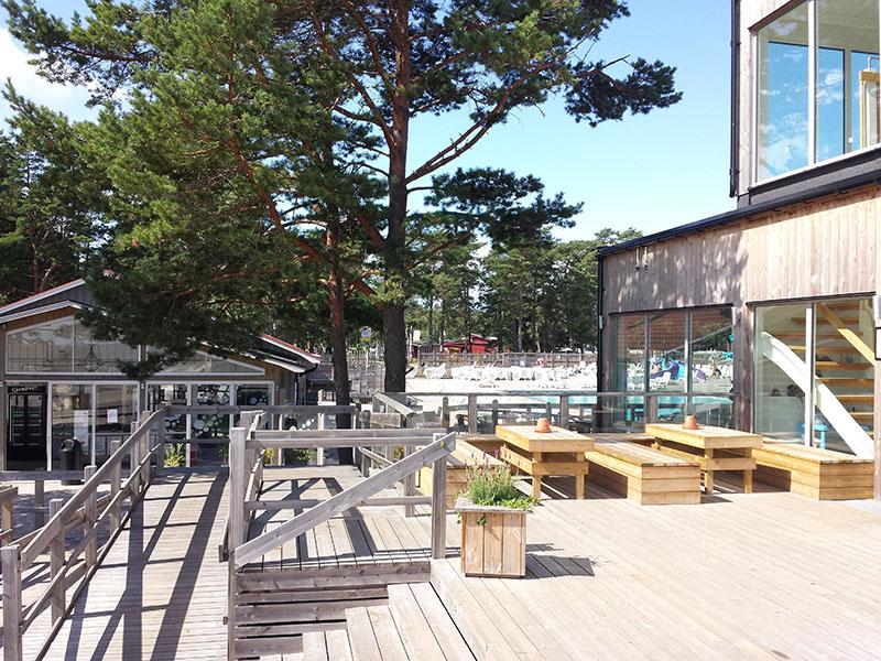 Een populair vakantiepark waar vooral veel Zweden komen. Op dat plekje scheen de zon iedere keer volop!
