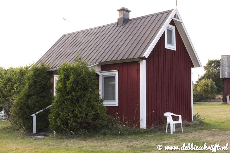 Onze stuga in het gehuchtje Vedborm bij Löttorp.