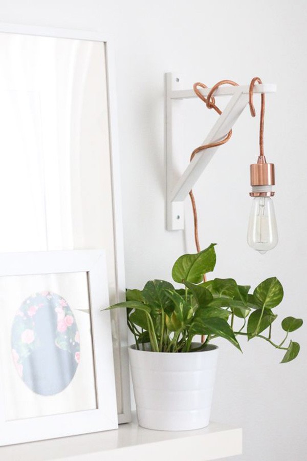 lichtidee - koperhanglamp