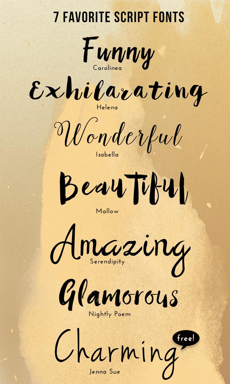 Favoriete script lettertypes
