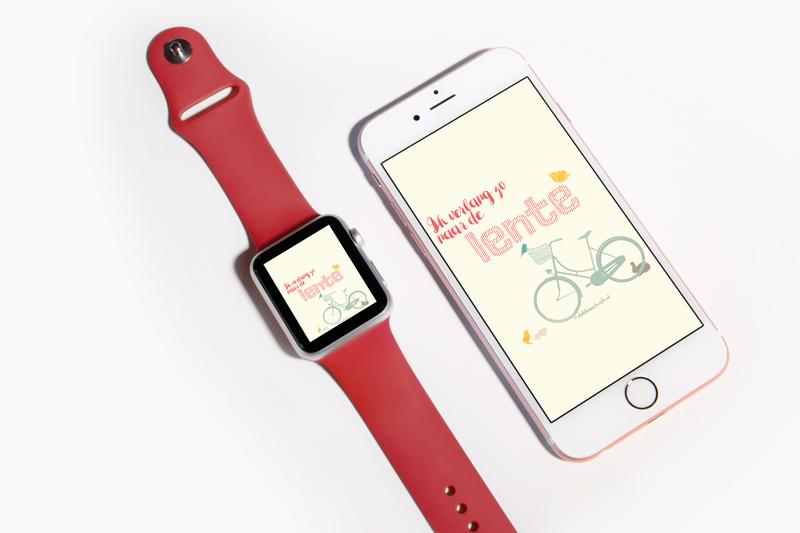 wallpaper wednesday iPhone + Apple Watch wallpaper - Lente - debbieschrijft.nl