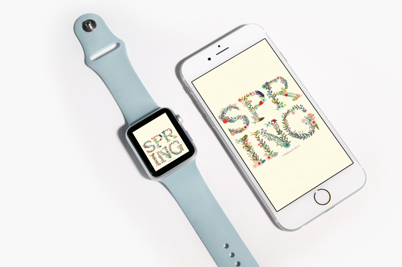 wallpaper wednesday iPhone + Apple Watch wallpaper - Lente - debbieschrijft.nl
