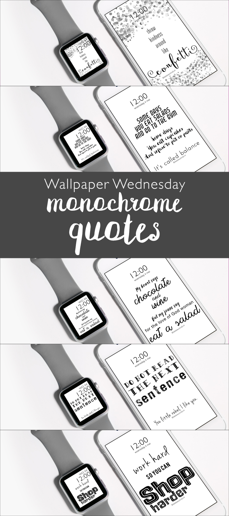 wallpaper wednesday monochrome quotes