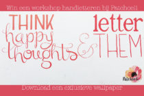 Workshop handletteren bij Patchoeli + wallpaper + winactie!